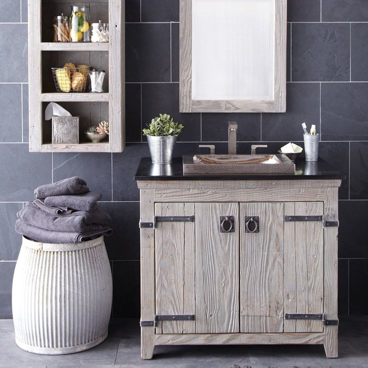 Native Trails Americana Driftwood 36 in Single Bathroom Vanity Set from  hayneedle  36 Bathroom Vanity. Morriston Barn Door
