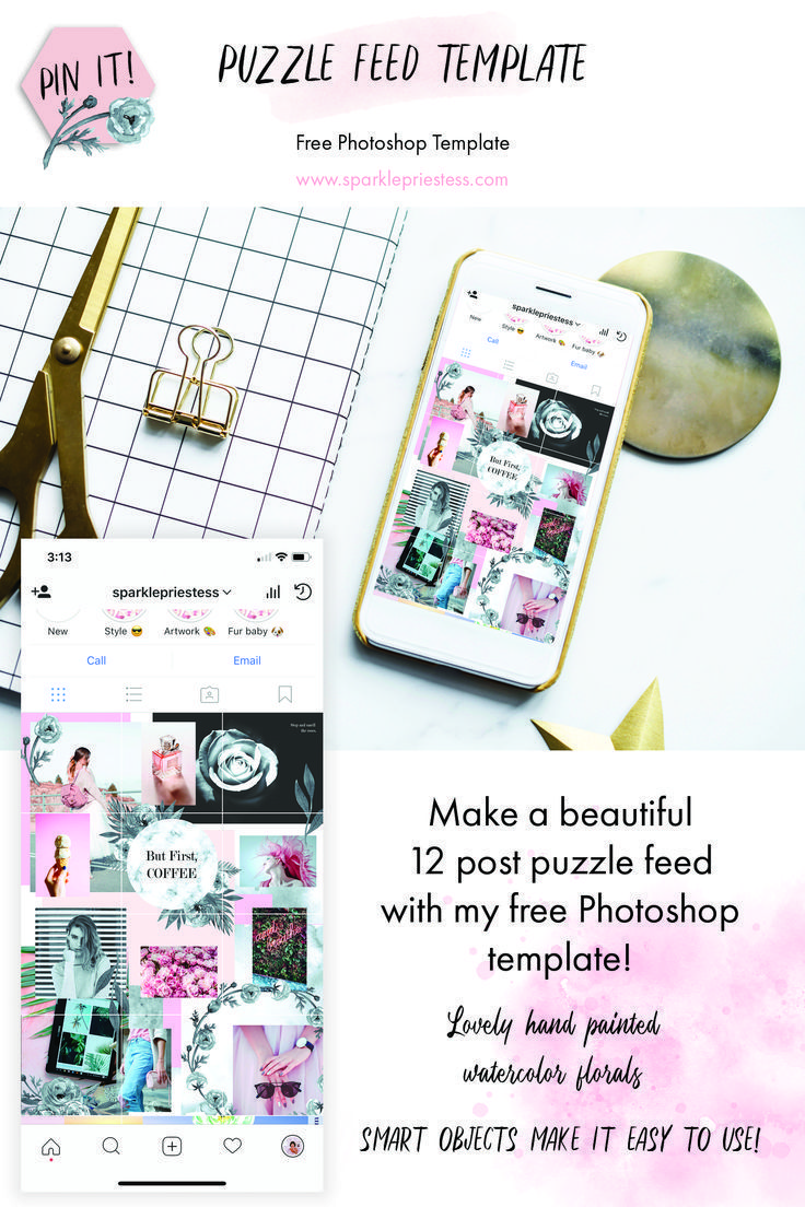How To Make An Instagram Puzzle Feed Using My Free Photoshop