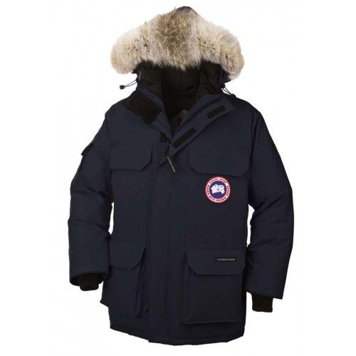 Canada Goose Mens - New Canada Goose Mens Expedition Parka Blue Black Down Jacket Sale