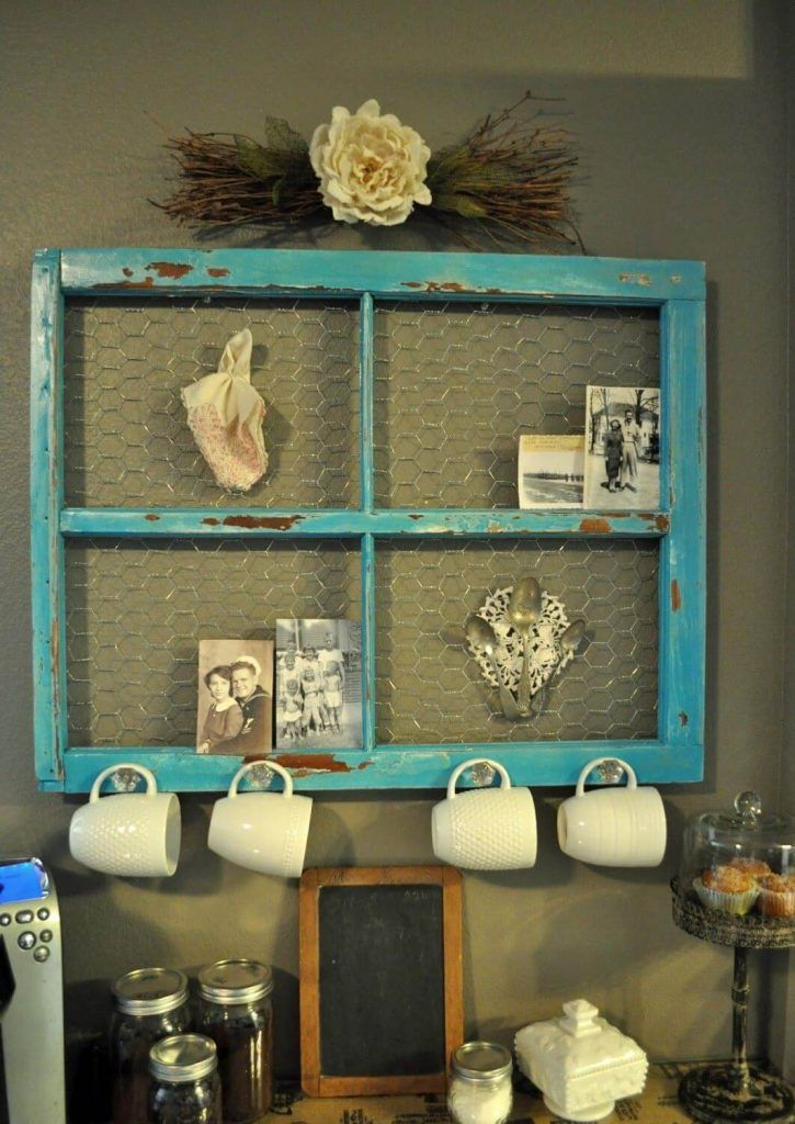 Wire And Hooks Make A Kitchen Rack Decorating Ideas In 2019