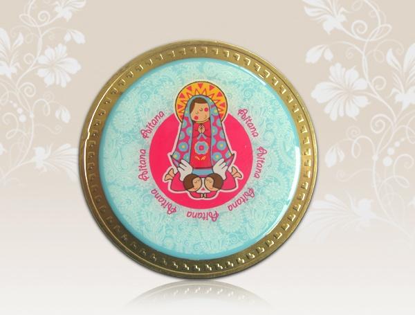 Invitación en moneda de chocolate (grande)