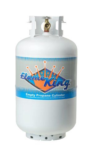 nice Flame King YSN-301 30-Pound Propane Cylinder with Type 1 Overflow Protection Device Valve