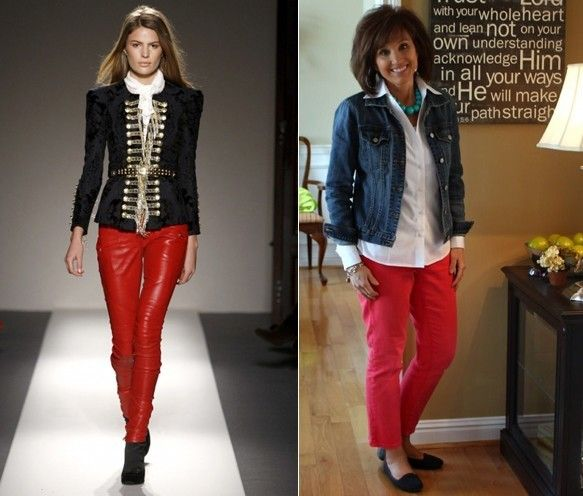 What matches with red pants | #Fashion #Apparels