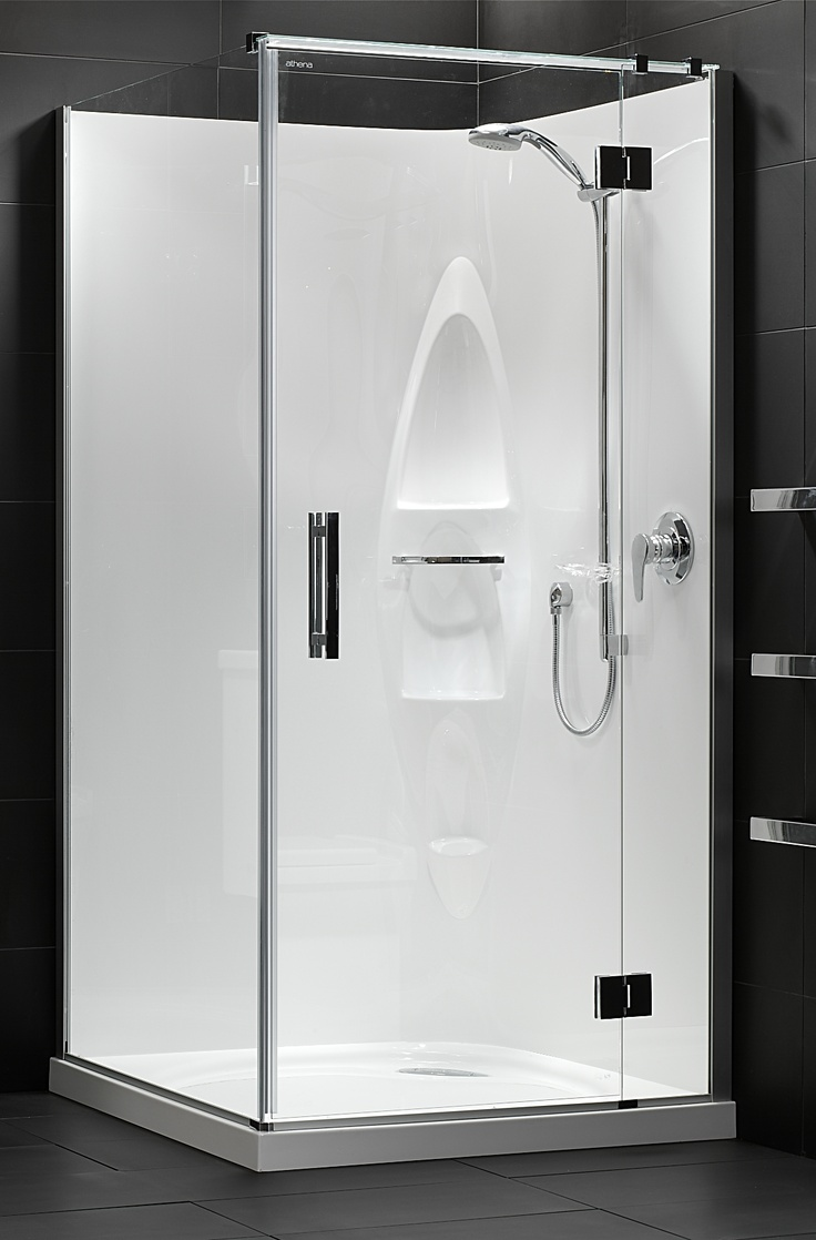 Felton designer 2 shower wall set bunnings warehouse - Athena Allora Square Moulded Wall Shower Enclosure Available At Pecks Plumbing Plus Manukau