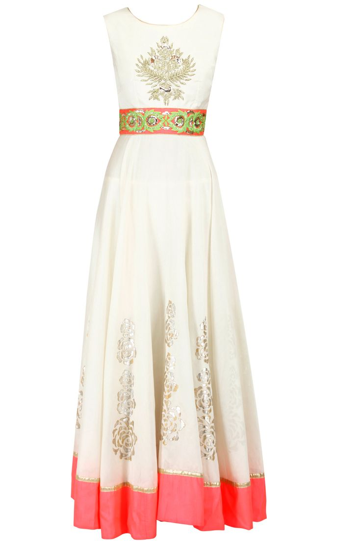 Off-white and pink embroidered anarkali set from J by Jannat. Shop now only at www.perniaspopupshop.com! #perniaspopupshop #pink #white #anarkali #ethnic #fashion #love #shopnow #happyshopping
