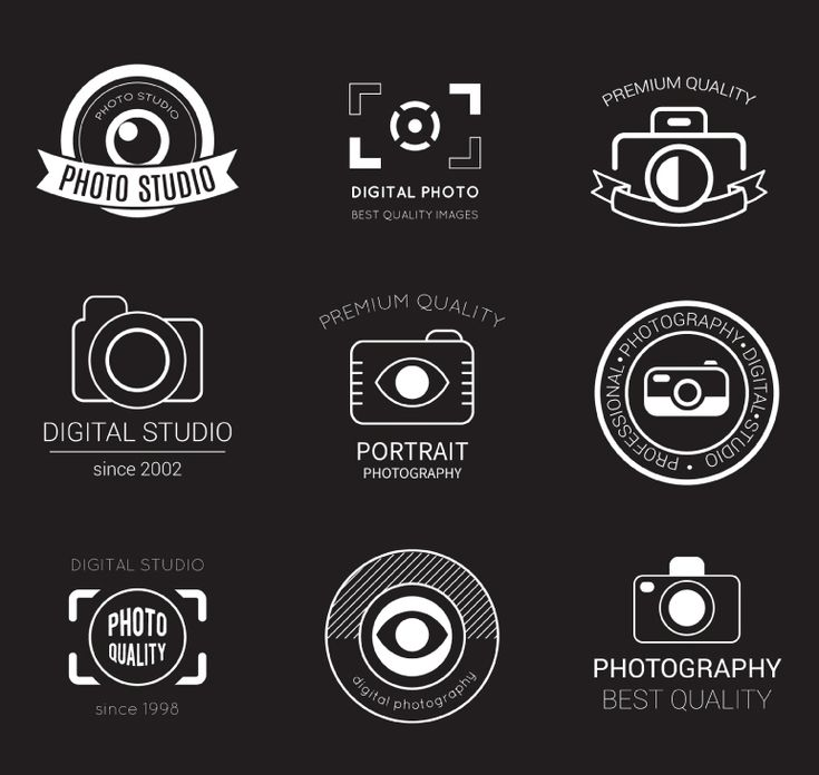 9 photography studio logo design vector material