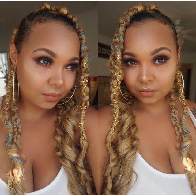 Braids, protective styles, box braids, hair jewelry ...