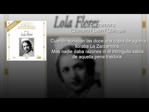 Lola Flores - La Zarzamora (con letra - lyrics video) - YouTube