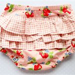 Baby girl ruffled nappy cover/bloomers size 3-6 months