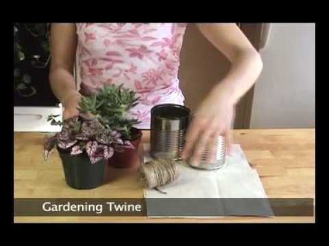 Indoor Mini Planter - Eco-friendly Craft Ideas by Shiho Masuda
