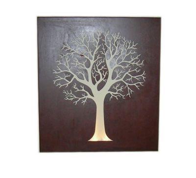 Round tree box wall art