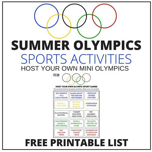 Host a mini Summer Olympics this year to go along with the events in Brazil! Family fun, our list of olympic sports activities has easy ideas you can do!