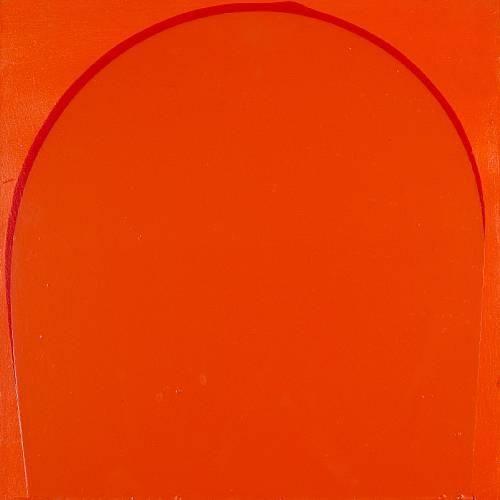 Poured Painting: Orange, Red, Orange - Ian Davenport