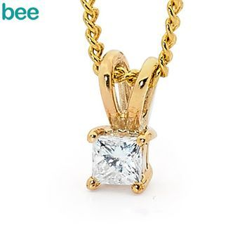 Buy Princess Cut Diamond Pendant 0.10 Carat (BEE-65505/B10) online at Chain Me Up