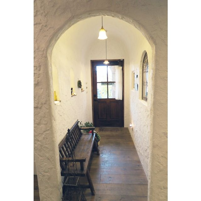 洞窟/アーチ漆喰/照明/玄関/minoi ts cafe/玄関/入り口…などのインテリア実例 - 2014-12-21 18:20:43 | RoomClip(ルームクリップ)