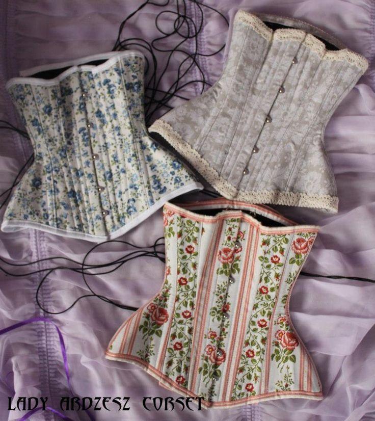 Beautiful floral underbust corsets by Lady Ardzesz