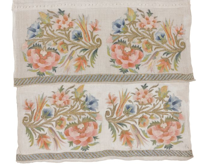 'Flowers' A Group of Ottoman embroidered Textiles | lot | Sotheby's