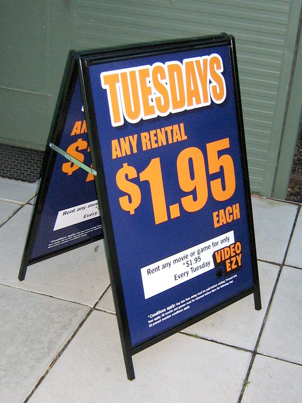 Tuesday Any Rental $1.95 Each - #Standard #Signage