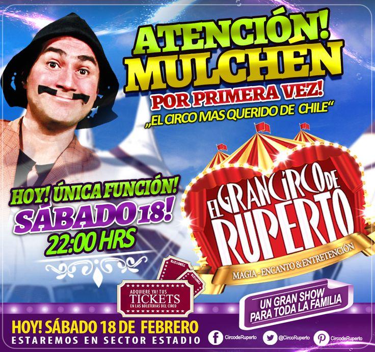 SIGUE EL ÉXITO EN MULCHEN!!! HOY! UN GRAN ESPECTÁCULO!! 22:00 HRS!! IMPERDIBLE!