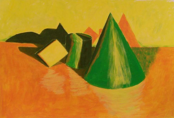 Acrílico sobre papel, 4 colores