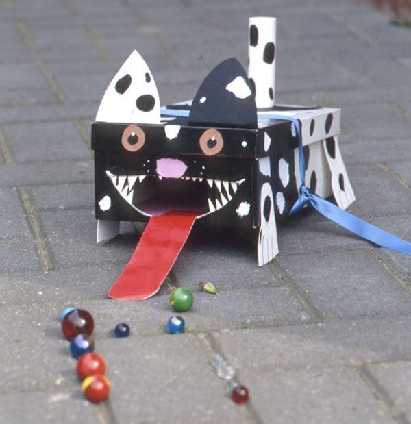 Bricolage Fabriquer une boîte chien pour jouer aux billes
