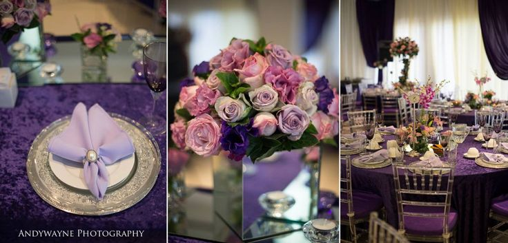 Purple and pink flowers for engagements and weddings