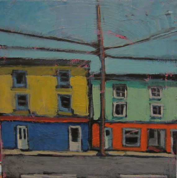 The Quiet of Tilligan St.  Original Acrylic by TheQuirkyArtisan