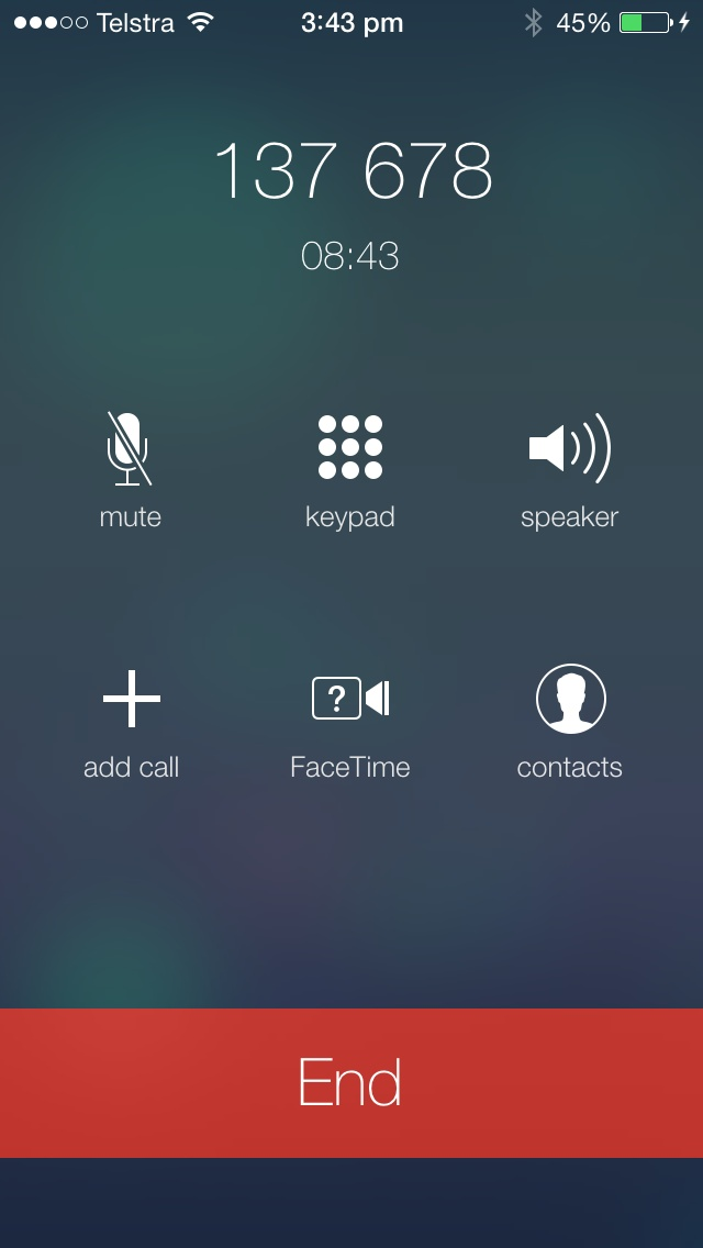 #iOS 7 Call screen #apple #ios7
