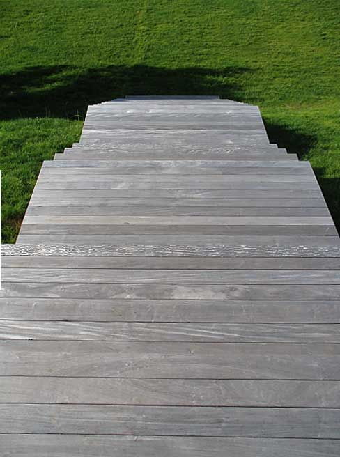 brazillian ipe wood (left untreated to turn grey naturally)