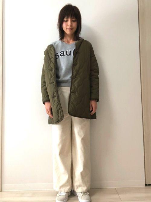 しまむらで見つけたキルティングジャケット(^-^) 軽くてあったかいので毎日着てます