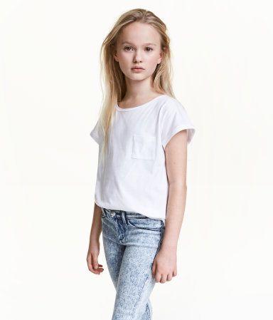 Jerseytop | Hvid | Børn | H&M DK