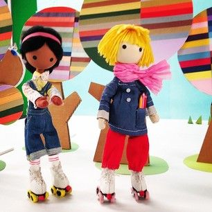 Windy & Spring rollerskating — our roller skates have licorice allsorts for wheels :) @windyandfriends