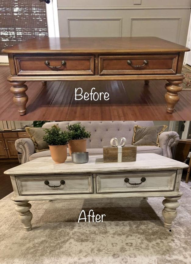 Thrift Store Coffee Table Make Over With Chalk Paint Rustic