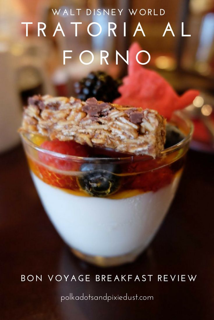 Bon Voyage Character Breakfast At Trattoria Al Forno Character Breakfast Disney World Menus Disney Character Dining