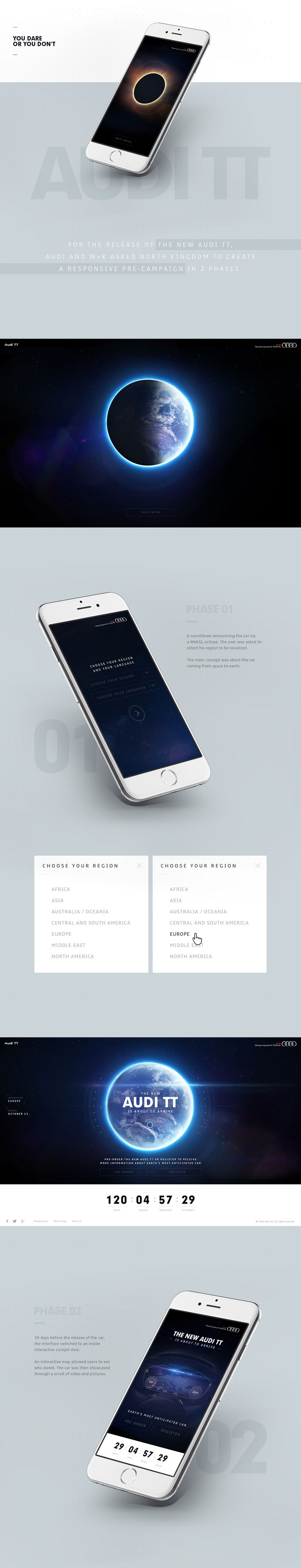 For the release of the new Audi TT, Audi and W+K asked North Kingdom to create a responsive pre-campaign in 2 phases.