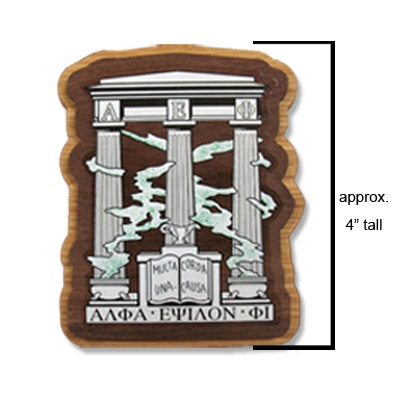 This Alpha Epsilon Phi Crest is perfect for any wooden item.