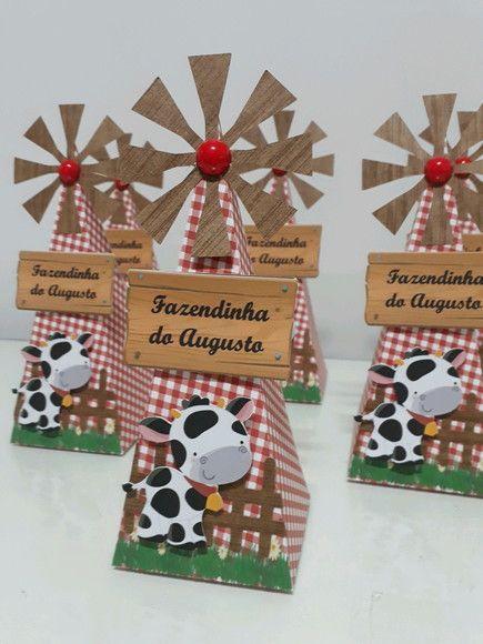 Cone moinho para Festa Fazendinha ou country. Valor da embalagem vazia