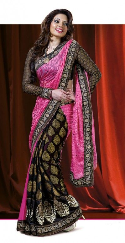 Shama Sikander Style Saree | More collection of Celebrity Saree Collection @ www.prafful.com