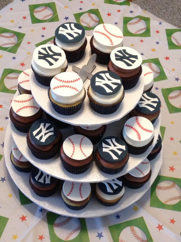 New York Yankees Cupcakes by Black Tie Cupcake Company More