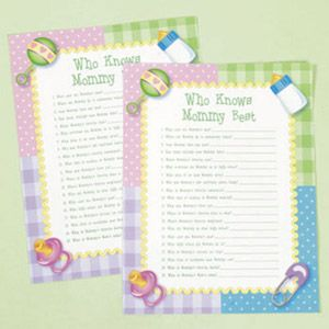 Who Knows Mommy Best Baby Shower Game Ideas Pinterest