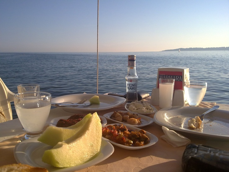 Turkish Raki Seaside Istanbul