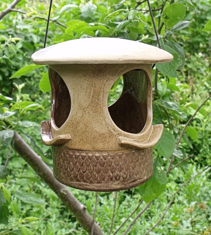 Summer Corn, Unique Ceramic Bird Feeder.