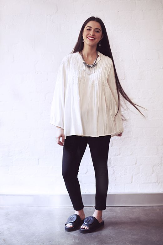 Pearl Beaded Top in Cream http://cakeclothing.net/collections/winter-15/products/pearl-beaded-top-cream
