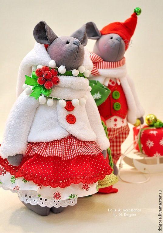 Купить Jingle Bells... - мыши, мышки, игрушка мышь, игрушка мышка, мышки новогодние