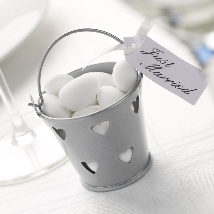 Contemporary Heart - Favour Pails- Weddings