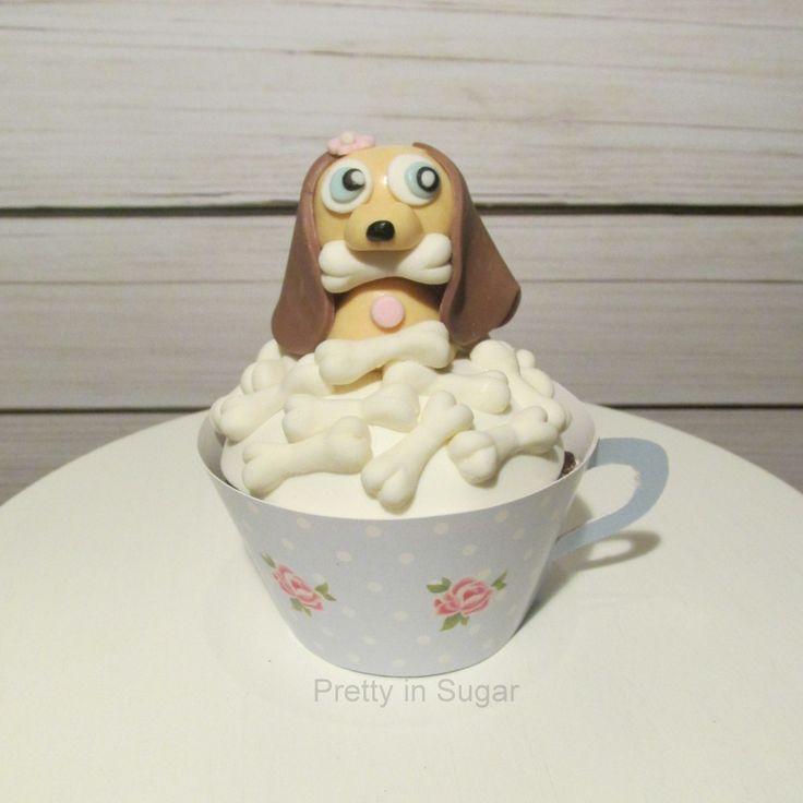 Dog in a tea cup... cupcake