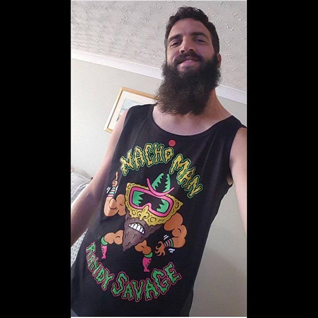 "#shoutout to #happycustomer @hightower_813 for looking  in our ""Nacho Man"" Tank Top DM us for a discount code next time you order  Item available at www.crmcclothing.co 