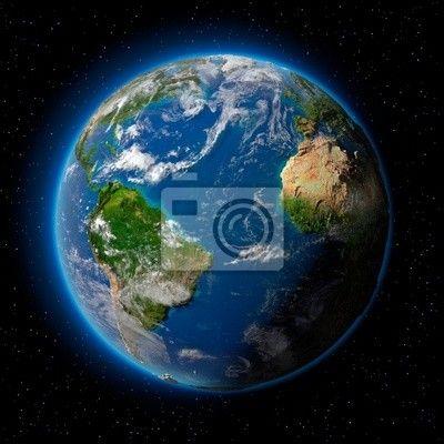 """Väggdekor """"navigera, yta, Fiktion - jorden i rymden ✓ Ett stort urval av material ✓ Vi anpassar produkten till dina behov ✓ Kolla in våra kunders åsikter!"""