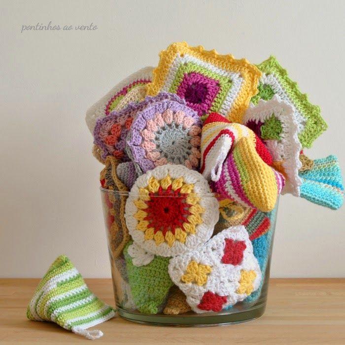 pencil case crochet + lavender sachet