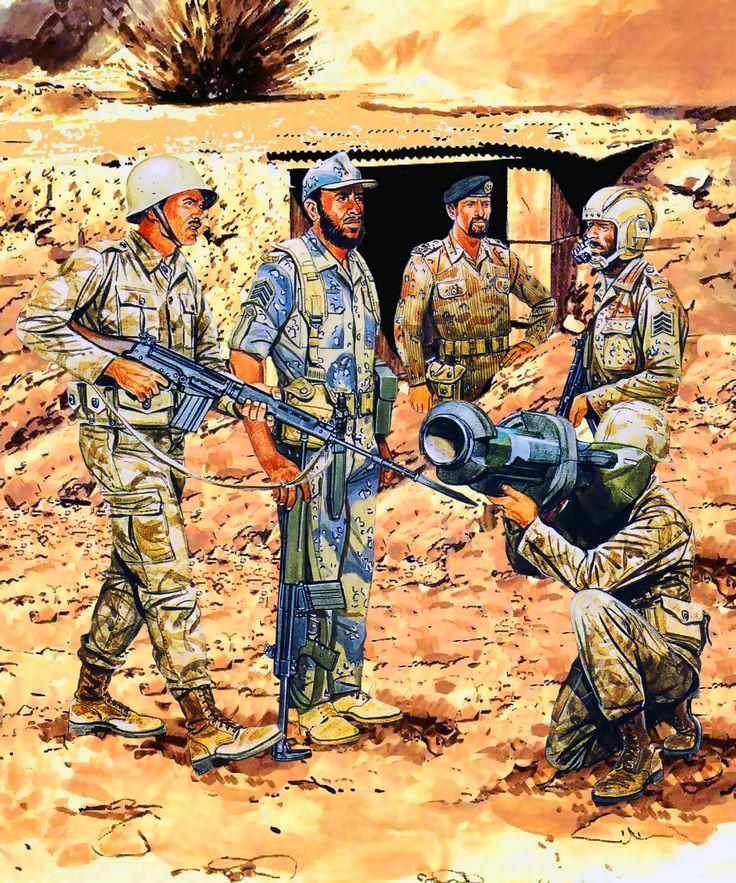 Gulf War - Saudi Arabian Army Infantry NCO, 20th Mech. Bde. Senior Tank NCO, 12th Khalid-bin-Waleed Armd. Bde. Gp. Major, Coalition Co-ordination Communication Integration Joint Staff. Infantryman, National Guard, National Guardsman, King Abdul Aziz Bde